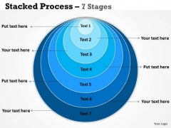 Business Framework Model Stacked Process 7 Stages Marketing Diagram