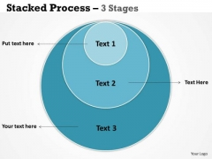Business Framework Model Stacked Triple Round Process 3 Stages Marketing Diagram