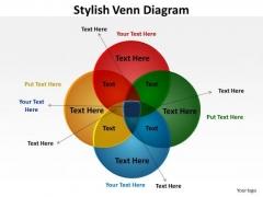 Business Framework Model Stylish Venn Diagram Business Diagram