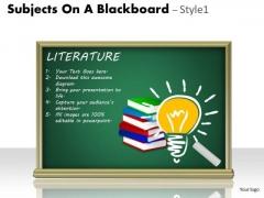 Business Framework Model Subjects On A Blackboard Strategy Diagram