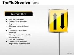 Business Framework Model Traffic Direction Signs Strategy Diagram