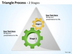 Business Framework Model Triangle Process 2 Stages Business Cycle Diagram