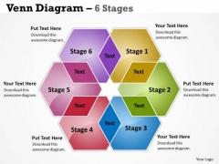 Business Framework Model Venn Diagram 6 Stages Marketing Diagram