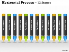 Business Framework Model Vertical Process 12 Stages Consulting Diagram