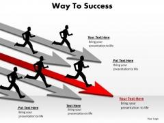 Business Framework Model Way To Success Marketing Diagram