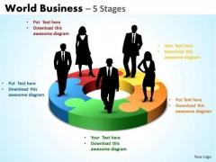 Business Framework Model World Business Diagram 5 Stages Sales Diagram
