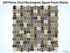 Consulting Diagram 169 Pieces 13x13 Rectangular Jigsaw Puzzle Matrix Strategy Diagram