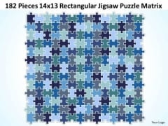 Consulting Diagram 182 Pieces 14x13 Rectangular Jigsaw Puzzle Matrix Strategy Diagram