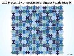 Consulting Diagram 210 Pieces 15x14 Rectangular Jigsaw Puzzle Matrix Strategy Diagram