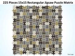 Consulting Diagram 225 Pieces 15x15 Rectangular Jigsaw Puzzle Matrix Strategy Diagram