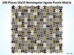 Consulting Diagram 240 Pieces 16x15 Rectangular Jigsaw Puzzle Matrix Strategy Diagram