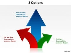Consulting Diagram 3 Options PowerPoint Slides Business Framework Model
