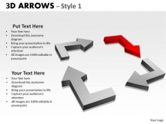 Consulting Diagram 3d Arrows Styli Business Framework Model