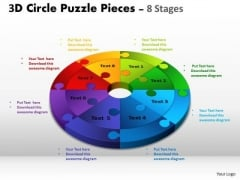 Consulting Diagram 3d Circle Puzzle Diagram 8 Stages Business Framework Model