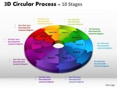 Consulting Diagram 3d Circular Process Cycle Diagram Chart 10 Stages Design 2 Business Diagram