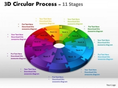 Consulting Diagram 3d Circular Process Cycle Diagram Chart 11 Stages Business Diagram