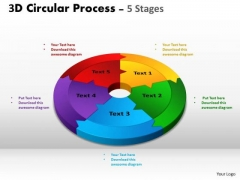 Consulting Diagram 3d Circular Process Cycle Diagram Chart 5 Stages Strategy Diagram