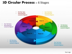 Consulting Diagram 3d Circular Process Cycle Diagram Chart 6 Stages Strategy Diagram