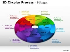 Consulting Diagram 3d Circular Process Cycle Diagram Chart 9 Stages Business Diagram