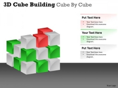 Consulting Diagram 3d Cube Building Cube By Cube Marketing Diagram