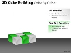 Consulting Diagram 3d Cube Building Cube By Cube Strategy Diagram