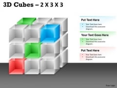Consulting Diagram 3d Cubes 2x3x3 Strategy Diagram