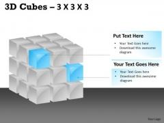 Consulting Diagram 3d Cubes 3x3x3 Marketing Diagram