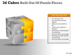 Consulting Diagram 3d Cubes Built Out Of Puzzle Pieces Marketing Diagram
