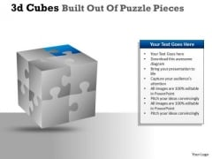 Consulting Diagram 3d Cubes Built Out Of Puzzle Pieces Strategy Diagram