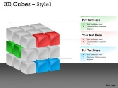 Consulting Diagram 3d Cubes Style Strategy Diagram