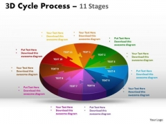 Consulting Diagram 3d Cycle Process Flow Chart 11 Stages Business Diagram