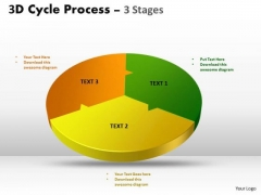Consulting Diagram 3d Cycle Process Flow Chart 3 Stages Sales Diagram