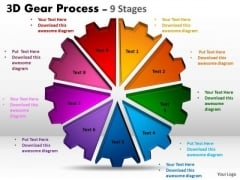 Consulting Diagram 3d Gear Process 9 Stages Business Cycle Diagram
