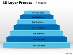 Consulting Diagram 3d Layer Diagram For Business Process Business Diagram
