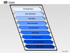 Consulting Diagram 3d List Diagram With 9 Stages For Business Strategic Management
