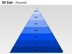 Consulting Diagram 3d List Pyramid 7 Stages For Marketing Diagram