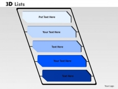 Consulting Diagram 3d List With 5 Stages Of Business Consulting Diagram