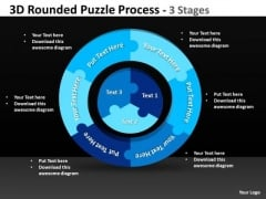 Consulting Diagram 3d Rounded Puzzle Process 3 Stages Sales Diagram