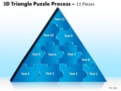 Consulting Diagram 3d Triangle Puzzle Process 11 Pieces Marketing Diagram