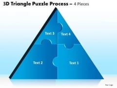Consulting Diagram 3d Triangle Puzzle Process 4 Pieces Strategy Diagram