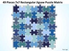 Consulting Diagram 49 Pieces 7x7 Rectangular Jigsaw Puzzle Matrix Strategy Diagram