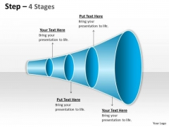 Consulting Diagram 4 Staged Linear Funnel Diagram Strategy Diagram