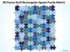 Consulting Diagram 90 Pieces 9x10 Rectangular Jigsaw Puzzle Matrix Strategy Diagram
