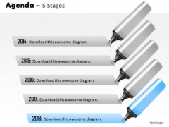Consulting Diagram Agenda 5 Stages Strategic Management