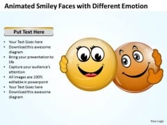 Consulting Diagram Animated Smiley Faces With Different Emotion Mba Models And Frameworks
