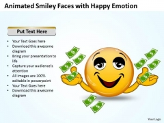 Consulting Diagram Animated Smiley With Happy Emotion Business Diagram