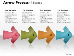 Consulting Diagram Arrow Process 4 Stages Business Cycle Diagram
