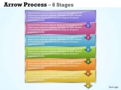 Consulting Diagram Arrow Process 6 Stages Strategy Diagram