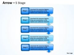 Consulting Diagram Arrows Diagram 5 Stages Sales Diagram