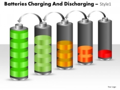 Consulting Diagram Batteries Charging And Discharging Style 1 Marketing Diagram